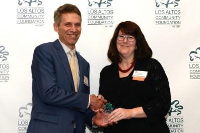 Kristine Bardman Receives Gardner Award 2016 from Joe Eyre, LACF