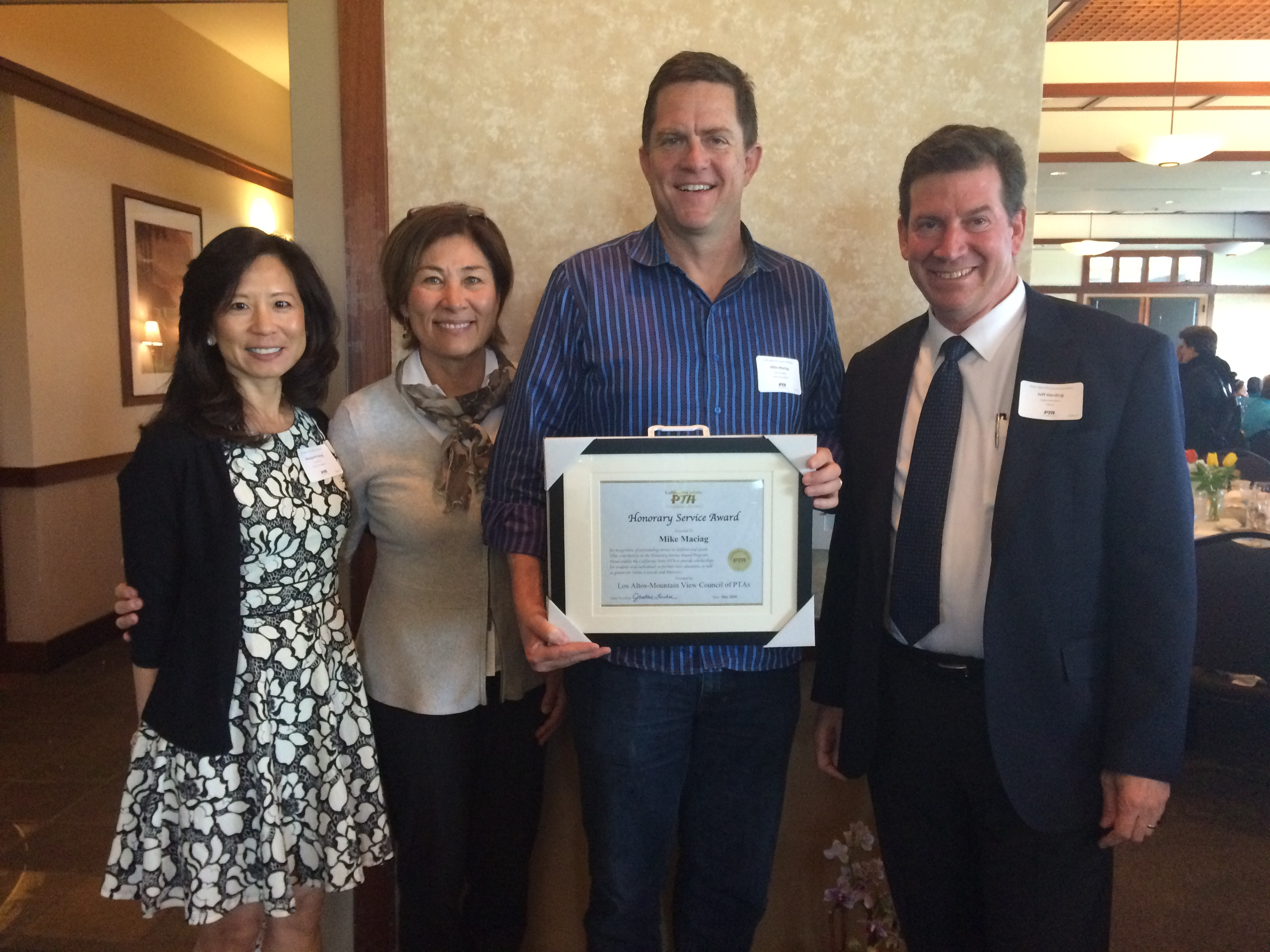 MikeMaciagService Award