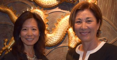 Margaret Gong - left, Laura Roberts - right