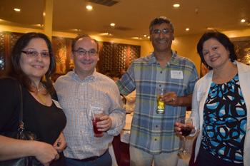 From left: Blanca Rocha, Lee Rubin, Sanjay Dave and Shobana Gubbi at Chef Chu's event 2016