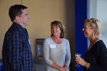 Board members Mike Maciag and Janice Lisbonne with Leadership Circle member, Cindy McColl  2015