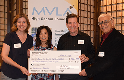 From left: Andrea Gray, Foundation President; Margaret Gong, Foundation Co-ED; Dr. Jeff Harding, Superintendent; Phil Faillace, School Board President