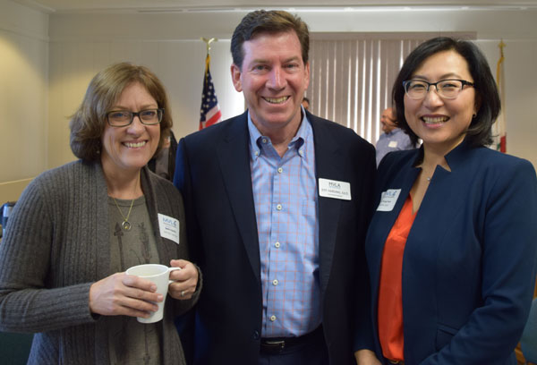 From left: Jackie Radcliffe, Dr. Jeff Harding and So Yong Park at Superintendents Breakfast Town Hall 2016
