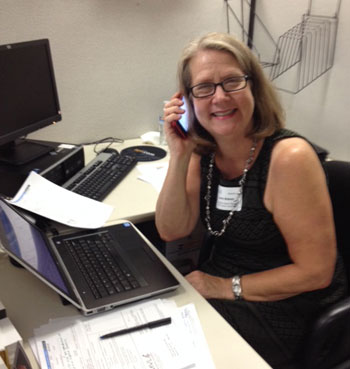 Laura Blakely at the Phonathon