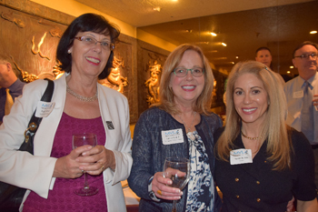 From left: Brigitte Sarraf, Carole Isnard and Susan Norton at Chef Chu's event