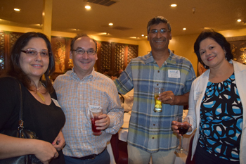 From left: Blanca Rocha, Lee Rubin, Sanjay Dave and Shobana Gubbi at Chef Chu's event 2016